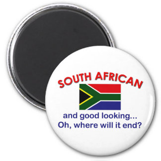 Good Looking South African 2 Inch Round Magnet