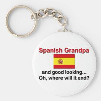 Good Looking Spanish Grandpa Basic Round Button Keychain