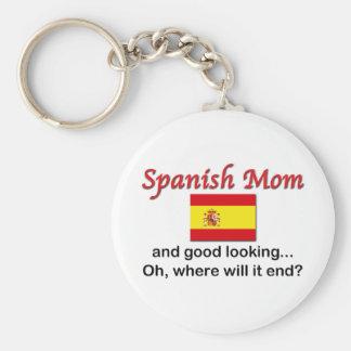 Good Looking Spanish Mom Basic Round Button Keychain