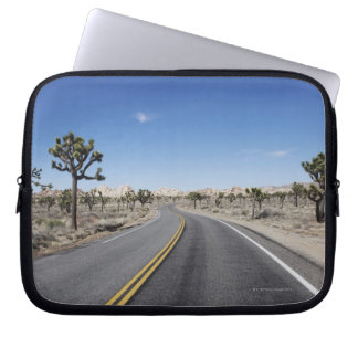good looking street in the middle of the dessert laptop sleeves