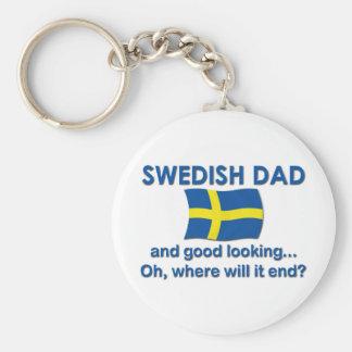 Good Looking Swedish Dad Keychain
