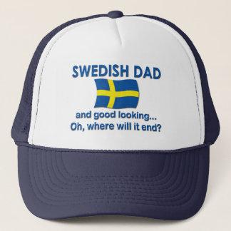 Good Looking Swedish Dad Trucker Hat