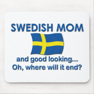 Good Looking Swedish Mom Mousepads
