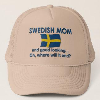 Good Looking Swedish Mom Trucker Hat