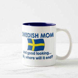 Good Looking Swedish Mom Two-Tone Coffee Mug