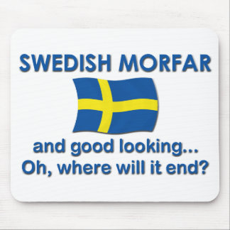 Good Looking Swedish Morfar Grandpa Mouse Pads
