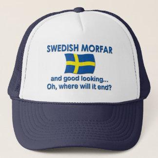 Good Looking Swedish Morfar (Grandpa) Trucker Hat