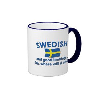 Good Looking Swedish... Ringer Coffee Mug