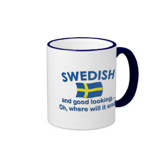Good Looking Swedish... Ringer Mug
