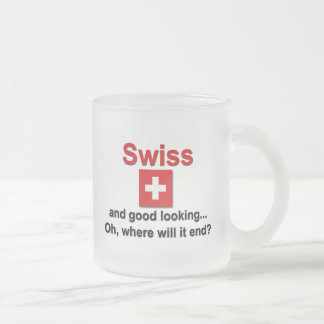 Good Looking Swiss Frosted Glass Coffee Mug