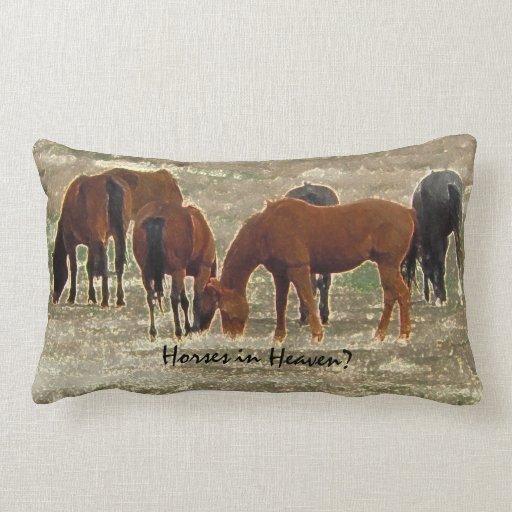 Good Lord's Remuda Herd Grazes in Heaven Pillow