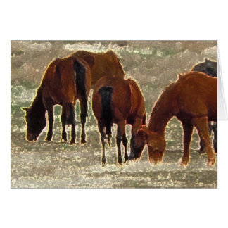 Good Lord's Remuda Herd in Heaven Sympathy Card