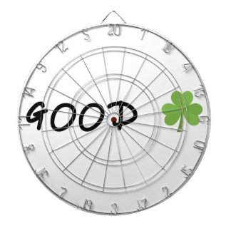 Good Luck 4 leaf clover Emoji Special one Dartboard With Darts