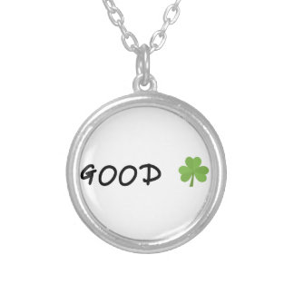 Good Luck 4 leaf clover Emoji Special one Silver Plated Necklace