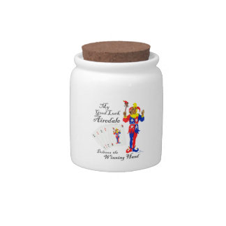 Good Luck Airedale Terrier Candy Jars