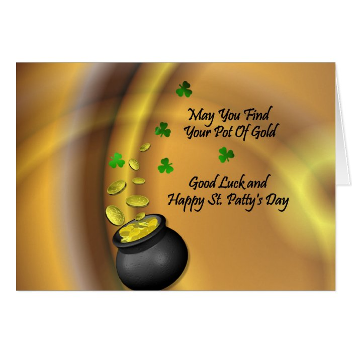 Good Luck And Happy St. Patty's Day Card
