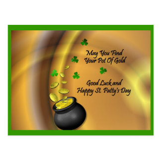 Good Luck And Happy St. Patty's Day Postcard