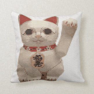 Good luck and prosperity Cat attracts money. Pillow