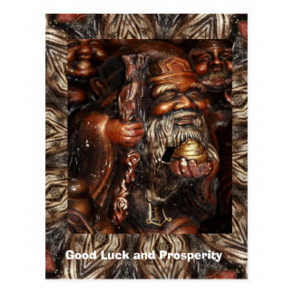 Good Luck and Prosperity, Holy man on a journey Postcard