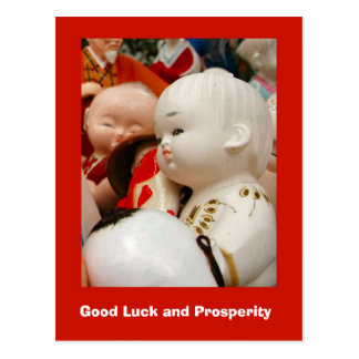 Good Luck and Prosperity, oriental ceramics Postcard