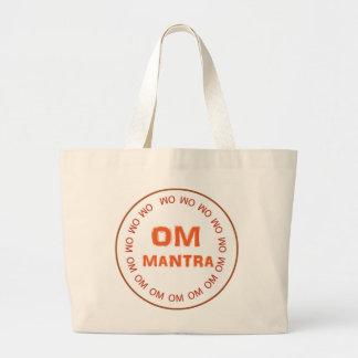 GOOD LUCK ART Om Mantra Yoga Meditation Large Tote Bag