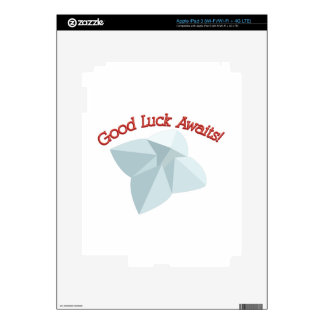 Good Luck Awaits Decal For iPad 3