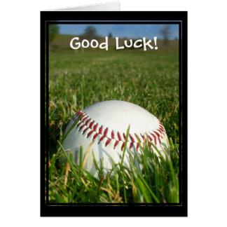 Good Luck Baseball greeting card