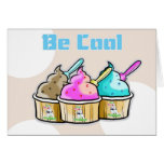 good luck,be cool ice cream greeting card