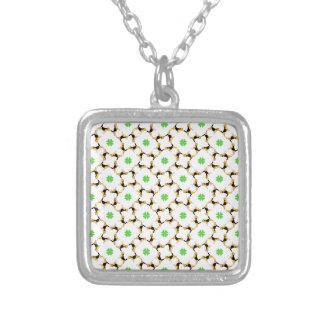 Good Luck Beagle Square Pendant Necklace