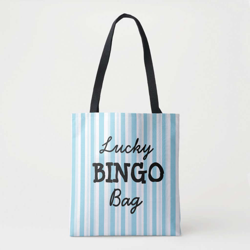 Good Luck BINGO Bag Blue Striped