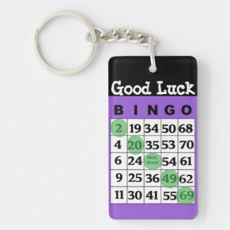 Good Luck BINGO Charm Key Chain
