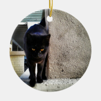 Good Luck Black Cat Christmas Tree Ornaments