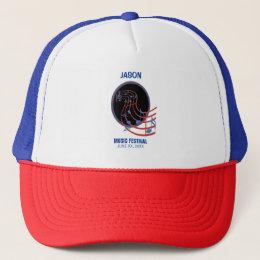 Good Luck, Black Music Circle Trucker Hat