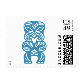 Good Luck Blue Tiki Stamps