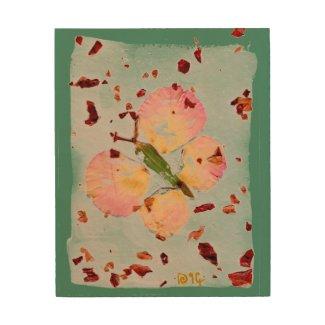 Good Luck Butterfly & Green Meadows wood wall art