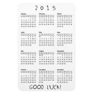 Good Luck Calendar 2015 Rectangular Magnet