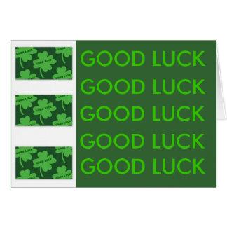 Good Luck. Card