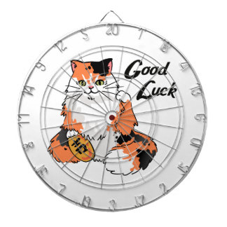 Good Luck Cat Dart Board