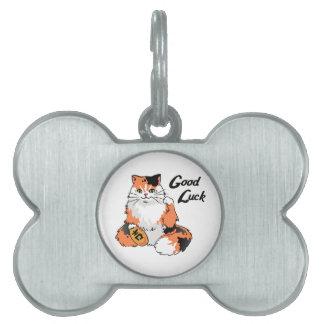 Good Luck Cat Pet ID Tag