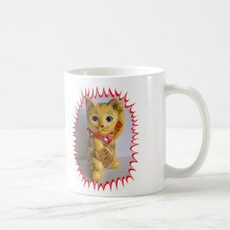 Good Luck Cat To Go! Classic White Coffee Mug