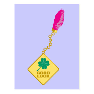 Good Luck Charm - Rabbits Foot Four Leaf Clover Post Cards