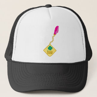 Good Luck Charm - Rabbits Foot Four Leaf Clover Trucker Hat