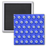 Good Luck Charms against Evil Eye Pattern 2 Inch Square Magnet