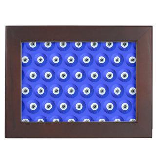 Good Luck Charms against Evil Eye Pattern Keepsake Box