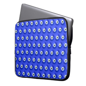 Good Luck Charms against Evil Eye Pattern Laptop Sleeve