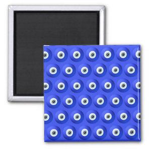 Good Luck Charms against Evil Eye Pattern Magnet