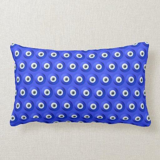 Good Luck Charms against Evil Eye Pattern Pillow