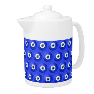 Good Luck Charms against Evil Eye Pattern Teapot