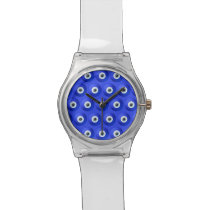 Good Luck Charms against Evil Eye Pattern Watch