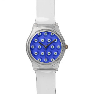 Good Luck Charms against Evil Eye Pattern Wristwatch